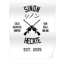 Sinon Hecate (Black) Poster