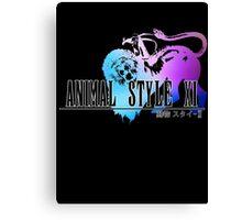 Animal Style Fantasy (Black) Canvas Print