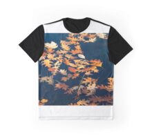 Autumns colored oak leafs upon water Graphic T-Shirt