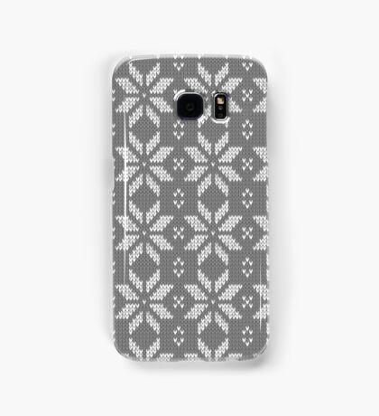 Knitted Snowflake Grey Samsung Galaxy Case/Skin