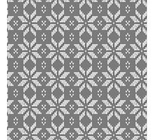 Knitted Snowflake Grey Photographic Print