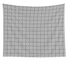 Knitted Snowflake Grey Wall Tapestry