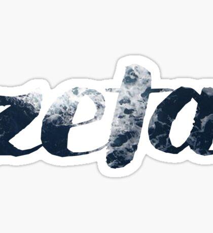 zeta - ocean Sticker