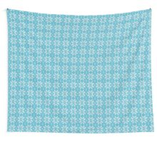 Knitted Snowflake Light Blue Wall Tapestry