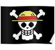 Straw Hat Flag Poster