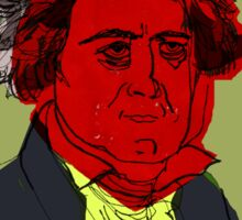 Beethoven in red. Sticker