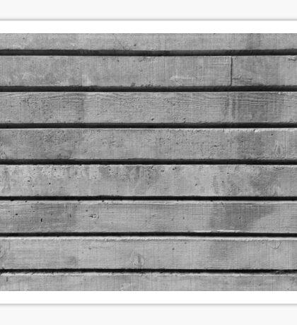Wood Grain Concrete Texture, Horizontal Sticker