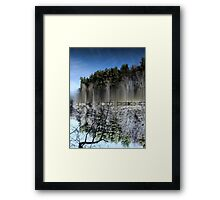 Abstract art depicting nature lakeside Framed Print