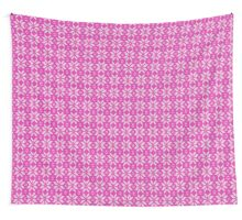 Knitted Snowflake Pink Wall Tapestry