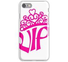 pink prinzessin königin princess queen krone hübsch vip schön schrift logo design cool very important person  iPhone Case/Skin