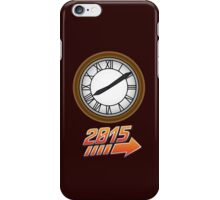 Back to the Future Clock 2015 iPhone Case/Skin