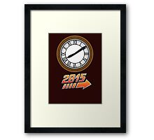 Back to the Future Clock 2015 Framed Print