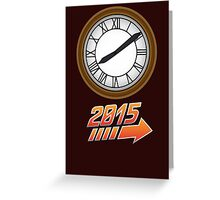 Back to the Future Clock 2015 Greeting Card