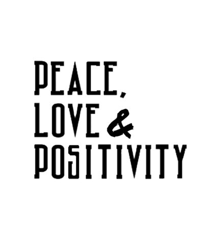 Peace, Love & Positivity Sticker