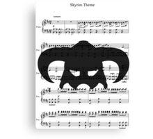 Skyrim Theme Canvas Print