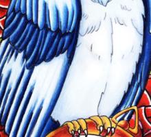 Owl Compass Rose tattoo design Sticker