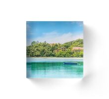 Tropical beach Acrylic Block