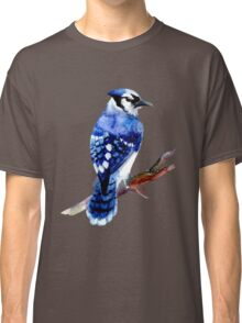 Watercolor blue jay  Classic T-Shirt