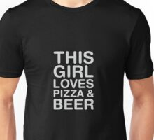 Love Pizza & Beer Unisex T-Shirt