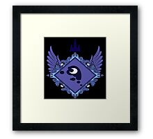 MLP - Princess Luna's Coat of Arms Framed Print