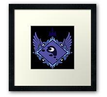 MLP - Princess Luna's Coat of Arms Framed Print