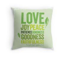 Love Joy Peace Throw Pillow