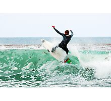 Surfing Southern California Photographic Print
