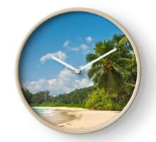 Tropical beach Clock