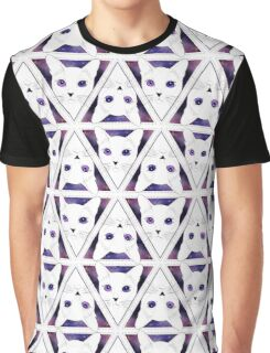 Trippy Space Cat Graphic T-Shirt