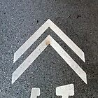 Road Paint Bike Arrow 01 Edit 01 by Keith Miller