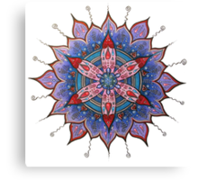 Mandala : Red Heart Passion Canvas Print