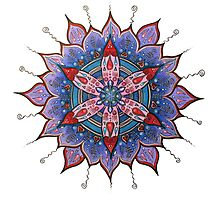 Mandala : Red Heart Passion Photographic Print