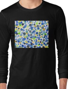 Happy Abstract Watercolor Dots Long Sleeve T-Shirt