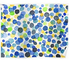 Happy Abstract Watercolor Dots Poster