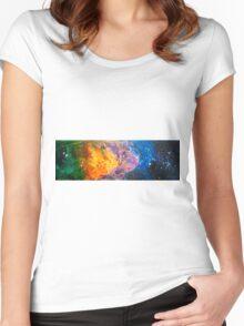 Stars Painting by Ottavio Fabbri Women's Fitted Scoop T-Shirt
