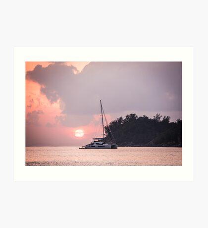 Recreational Yacht at the Indian Ocean Art Print