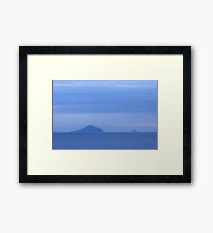 Islands Sea Water Ocean Blue Dawn Sunrise Clouds Framed Print