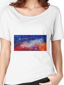 Stars Painting by Ottavio Fabbri Women's Relaxed Fit T-Shirt