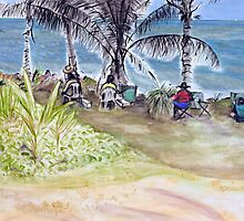 Artists by the Sea, Flying Fish Point  by Kerryn Madsen-Pietsch