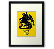 Ours is the night fury Framed Print