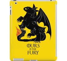 Ours is the night fury iPad Case/Skin