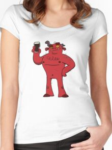 Stout Beer Monster Women's Fitted Scoop T-Shirt