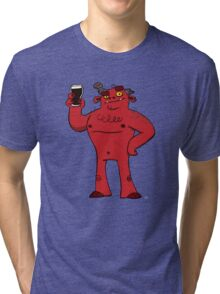 Stout Beer Monster Tri-blend T-Shirt