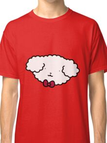 Bowtie Fluffy Dog Face Classic T-Shirt