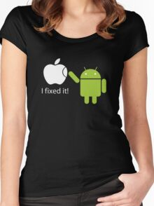 I Fixed It! Robot Phone Mobile  Women's Fitted Scoop T-Shirt