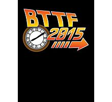 Back to the Future 2015 Logo with Clock Photographic Print