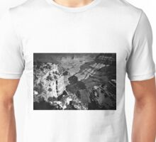 winter at Grand Canyon national park, USA in black and white Unisex T-Shirt