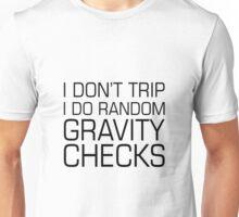 Random Gravity Checks Unisex T-Shirt