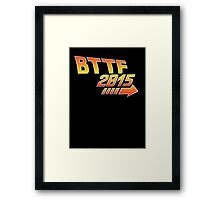 Back to the future 2015 Logo Framed Print