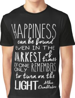 Turn on the Light - White Version Graphic T-Shirt